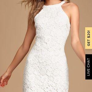 Lulus love poem ivory lace dress size xs